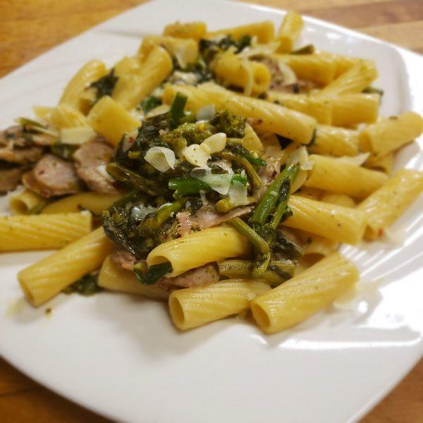 broccoli rabe n sausage sautee
