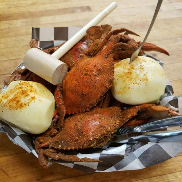 hard shell steamed crabs