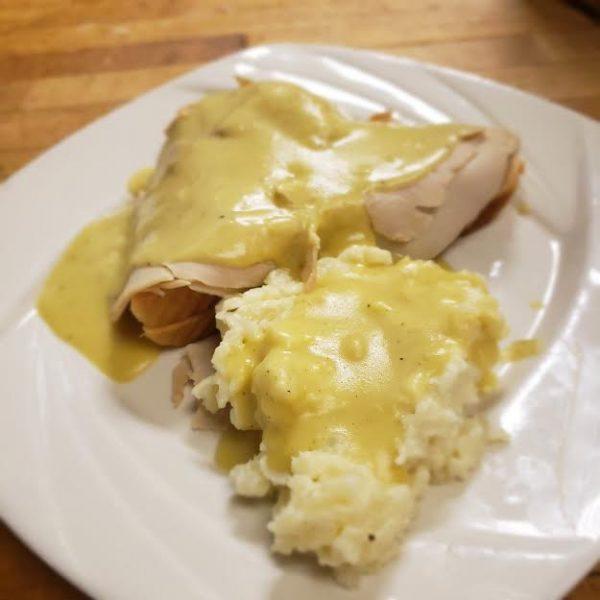 open face roast turkey