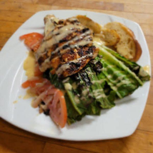 blackened chicken grilled caesar salad